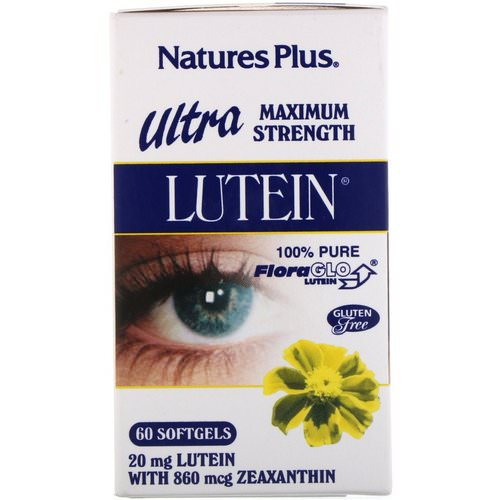 Nature's Plus, Ultra Lutein, Maximum Strength, 20 mg, 60 Softgels Review