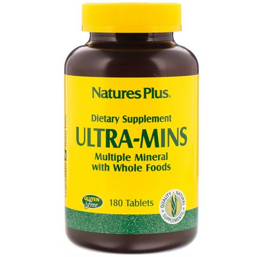 Nature's Plus, Ultra-Mins, Multiple Mineral with Whole Foods, 180 Tablets Review