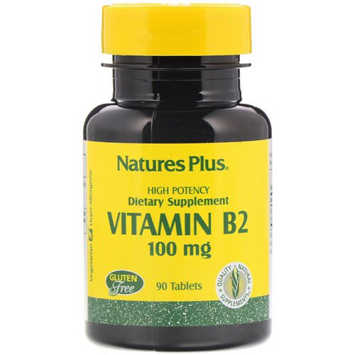 Nature's Plus, Vitamin B-2, 100 mg, 90 Tablets Review