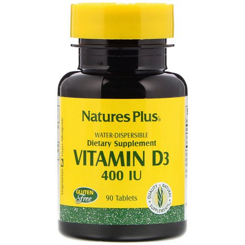 Nature's Plus, Vitamin D3, 400 IU, 90 Tablets Review