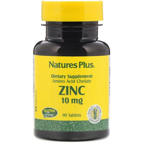 Nature's Plus, Zinc, 10 mg, 90 Tablets Review