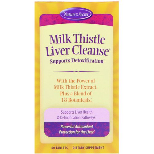 Nature's Secret, Milk Thistle Liver Cleanse, 60 Tablets Review