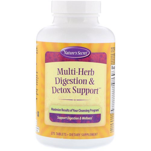 Nature's Secret, Multi-Herb Digestion & Detox Support, 275 Tablets Review