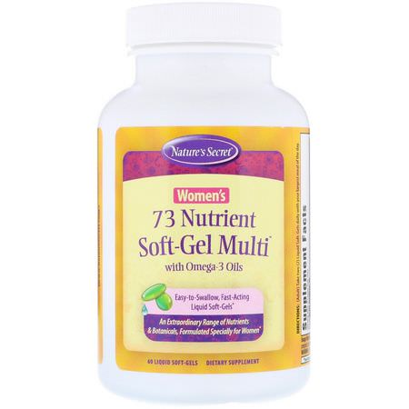 Nature's Secret, Women's Multivitamins, Omega-3 Fish Oil