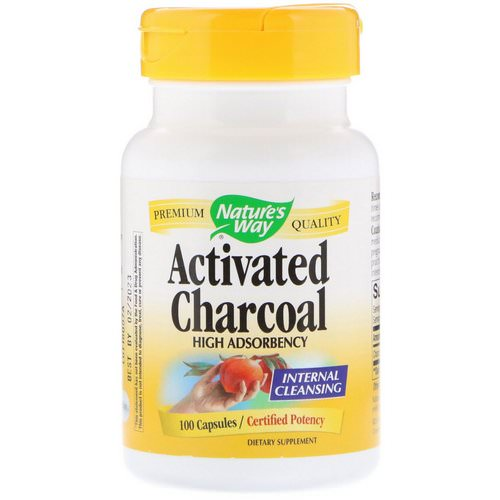 Nature's Way, Activated Charcoal, 100 Capsules Review