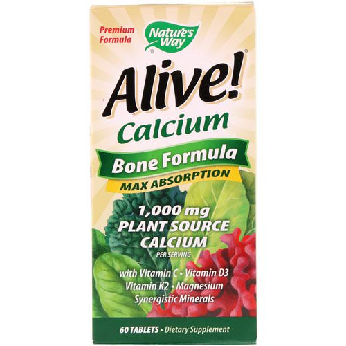 Nature's Way, Alive! Calcium, Bone Formula, 1,000 mg, 60 Tablets Review