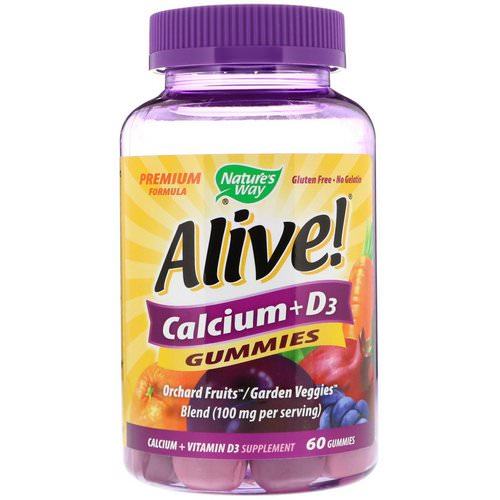 Nature's Way, Alive! Calcium + D3, 60 Gummies Review