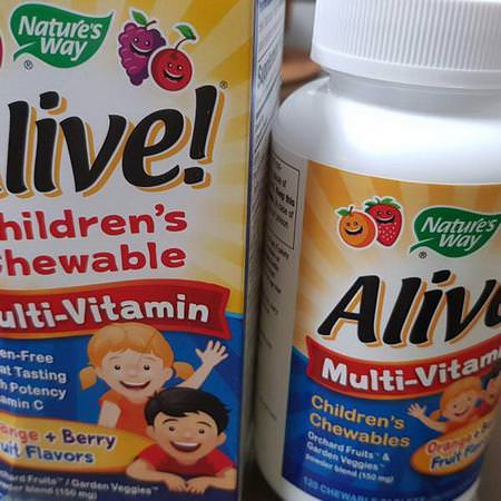 Nature's Way, Alive! Children's Chewable Multi-Vitamin, Orange + Berry Fruit Flavors, 120 Chewable Tablets Review