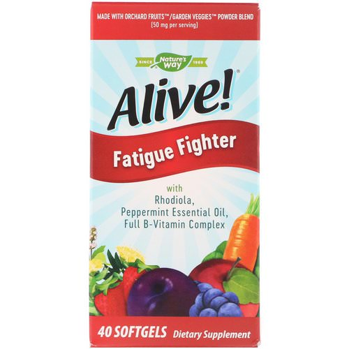 Nature's Way, Alive! Fatigue Fighter, 40 Softgels Review