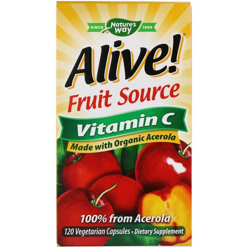 Nature's Way, Alive! Fruit Source, Vitamin C, 120 Vegetarian Capsules Review