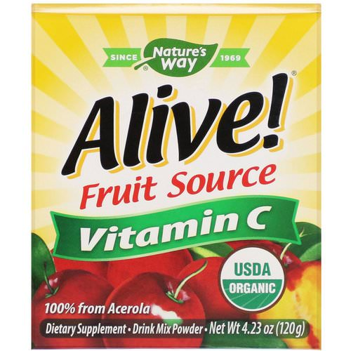 Nature's Way, Alive! Fruit Source, Vitamin C, Drink Mix Powder, Organic Acerola Fruit, 4.23 oz (120 g) Review