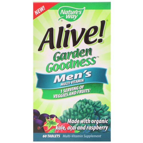 Nature's Way, Alive! Garden Goodness, Men's Multivitamin, 60 Tablets Review