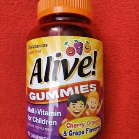Nature's Way, Alive! Gummies, Multi-Vitamin for Children, Cherry, Orange & Grape, 90 Gummies Review