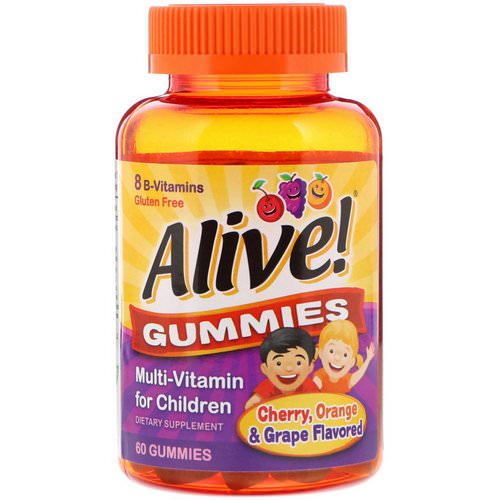 Nature's Way, Alive! Gummies, Multi-Vitamin for Children, Cherry, Orange & Grape Flavored, 60 Gummies Review
