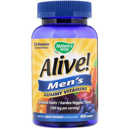 Nature's Way, Alive! Men's Gummy Vitamins, Fruit Flavors, 60 Gummies Review