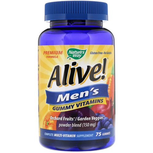 Nature's Way, Alive! Men's Gummy Vitamins, Fruit Flavors, 75 Gummies Review