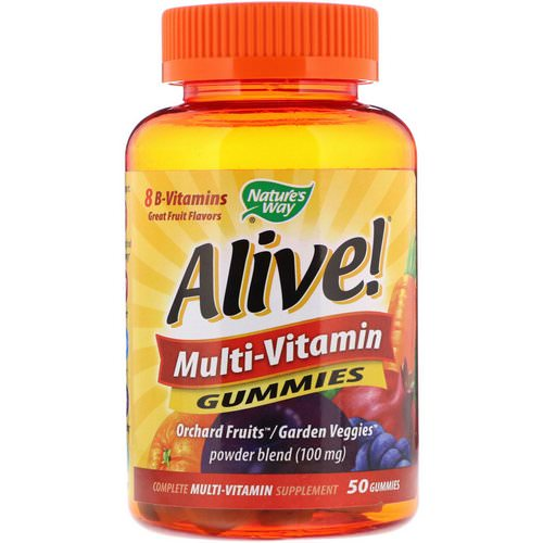 Nature's Way, Alive! Multi-Vitamin Gummies, Great Fruit Flavors, 50 Gummies Review