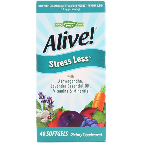 Nature's Way, Alive! Stress Less, 40 Softgels Review