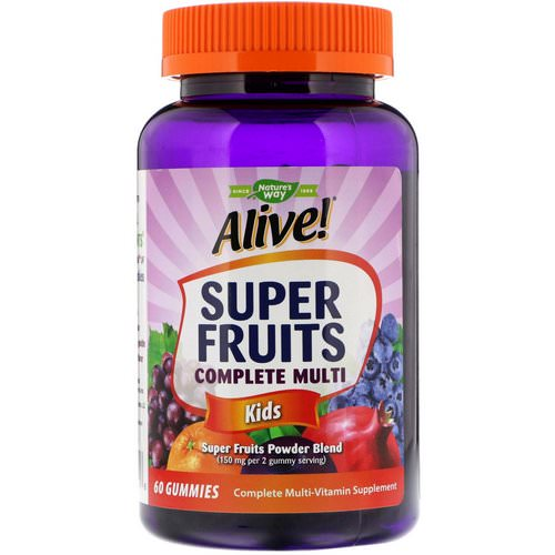 Nature's Way, Alive! Super Fruits Complete Multi, Kids, Pomegranate Cherry, 60 Gummies Review