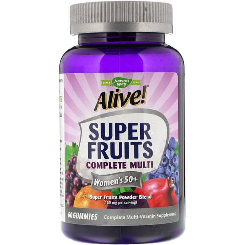 Nature's Way, Alive! Super Fruits Complete Multi, Women's 50+, Pomegranate Berry, 60 Gummies Review