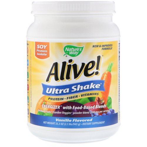 Nature's Way, Alive! Ultra-Shake, Vanilla Flavored, 2.1 lbs (945 g) Review