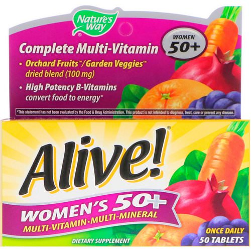 Nature's Way, Alive! Women's 50+ Complete Multi-Vitamin, 50 Tablets Review