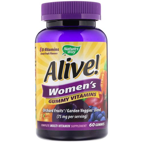 Nature's Way, Alive! Women's Gummy Vitamins, Great Fruit Flavors, 60 Gummies Review