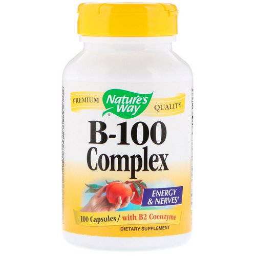 Nature's Way, B-100 Complex, with B2 Coenzyme, 100 Capsules Review
