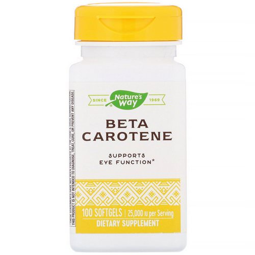 Nature's Way, Beta Carotene, 25,000 IU, 100 Softgels Review