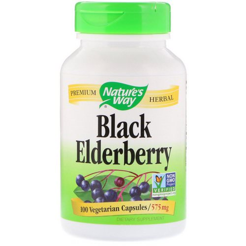 Nature's Way, Black Elderberry, 575 mg, 100 Vegetarian Capsules Review