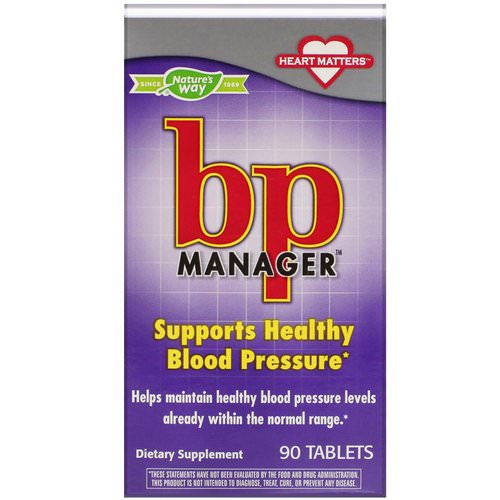 Nature's Way, BP Manager, 90 Tablets Review