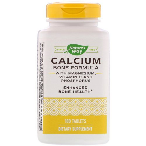 Nature's Way, Calcium Bone Formula with Magnesium, Vitamin D and Phosphorus, 180 Tablets Review