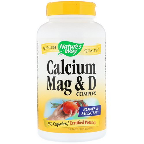 Nature's Way, Calcium Mag & D Complex, 250 Capsules Review
