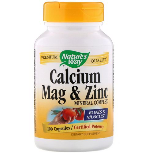Nature's Way, Calcium Mag & Zinc Mineral Complex, 100 Capsules Review