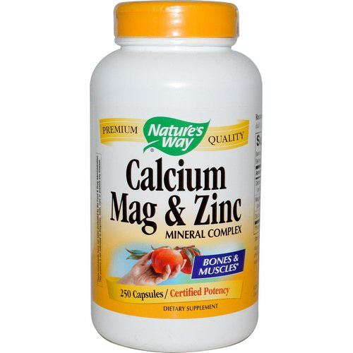 Nature's Way, Calcium, Mag & Zinc, Mineral Complex, 250 Capsules Review