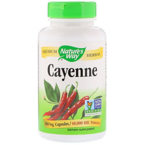 Nature's Way, Cayenne, 180 Veg. Capsules Review