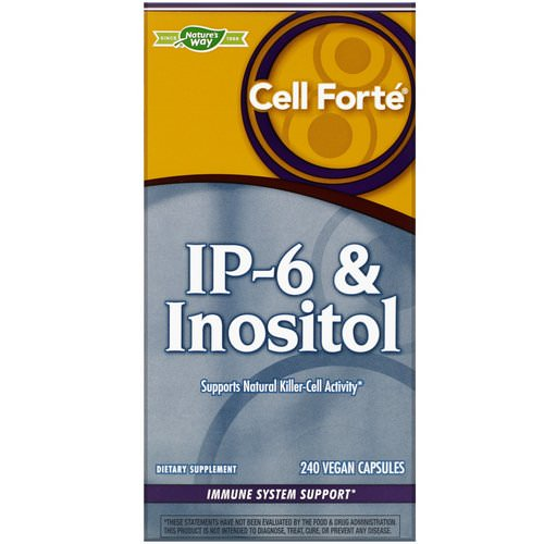 Nature's Way, Cell Forte, IP-6 & Inositol, 240 Vegan Capsules Review