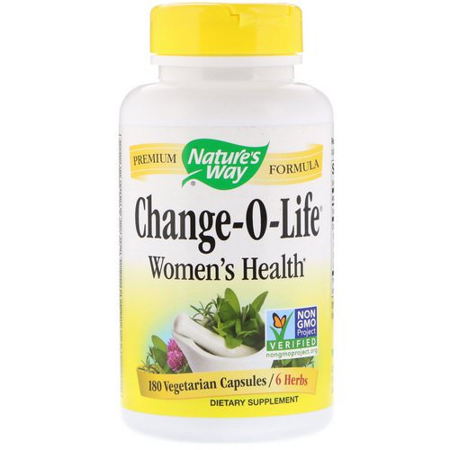 Nature's Way, Change-O-Life, Women's Health, 180 Vegetarian Capsules Review