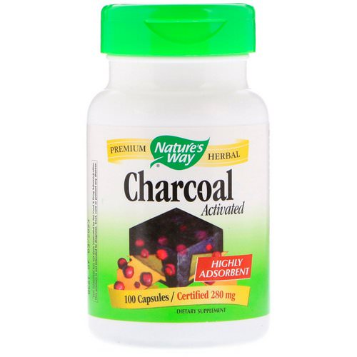 Nature's Way, Charcoal, Activated, 280 mg, 100 Capsules Review