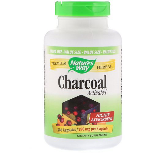 Nature's Way, Charcoal, Activated, 280 mg, 360 Capsules Review