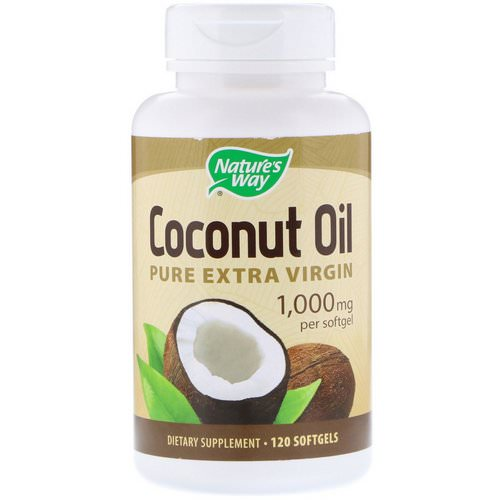 Nature's Way, Coconut Oil, Pure Extra Virgin, 1,000 mg, 120 Softgels Review