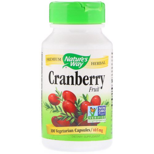Nature's Way, Cranberry Fruit, 465 mg, 100 Vegetarian Capsules Review