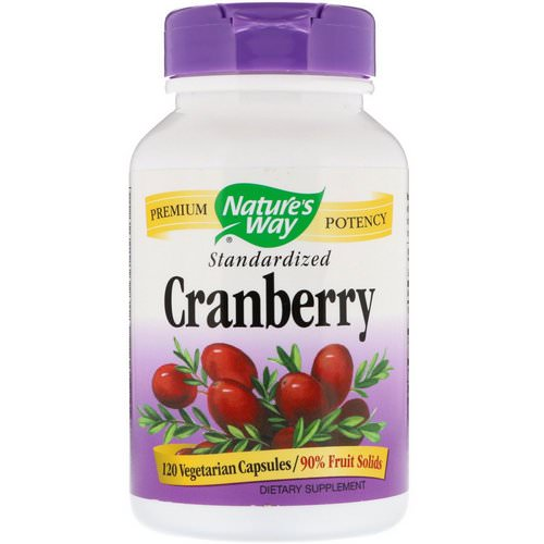 Nature's Way, Cranberry, Standardized, 120 Vegetarian Capsules Review