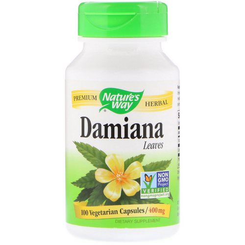 Nature's Way, Damiana, Leaves, 400 mg, 100 Vegetarian Capsules Review