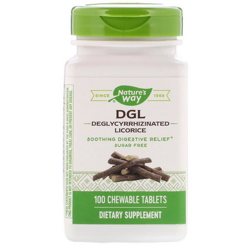 Nature's Way, DGL, Deglycyrrhizinated Licorice, 100 Chewable Tablets Review
