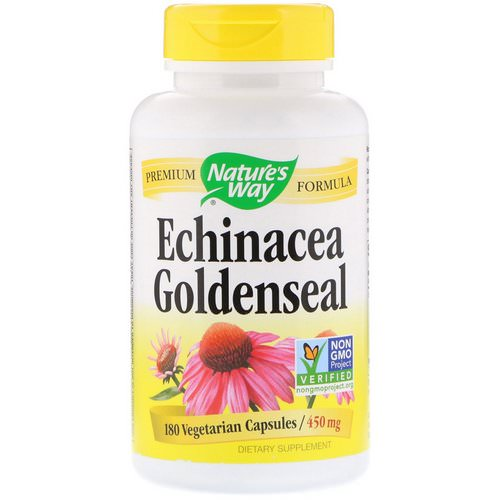 Nature's Way, Echinacea Goldenseal, 450 mg, 180 Vegetarian Capsules Review