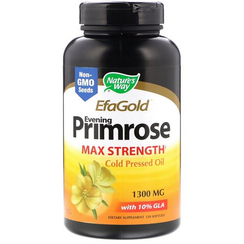 Nature's Way, EfaGold, Evening Primrose, Max Strength, 1,300 mg, 120 Softgels Review