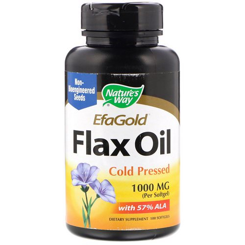 Nature's Way, EfaGold, Flax Oil, 1000 mg, 100 Softgels Review