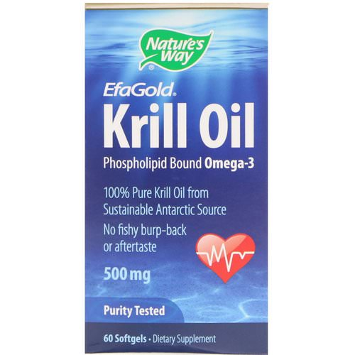 Nature's Way, EfaGold, Krill Oil, 500 mg, 60 Softgels Review