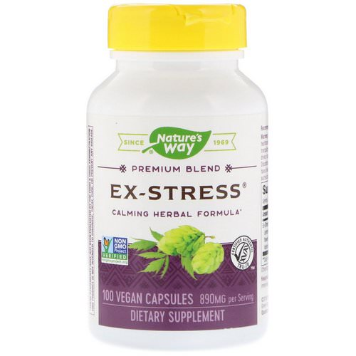 Nature's Way, Ex-Stress, Calming Herbal Formula, 890 mg, 100 Vegan Capsules Review